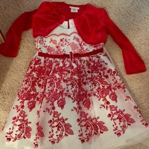 Girls Red Velvet Formal dress